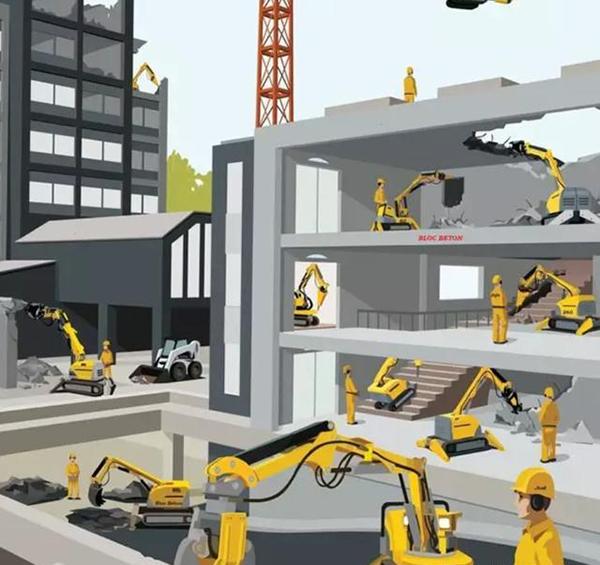 建筑机器人施工