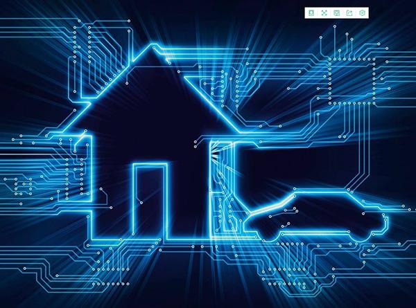 物联网智能建筑房屋图